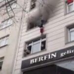 Por un incendio arroja a sus 4 hijos por la ventana para salvarlos.